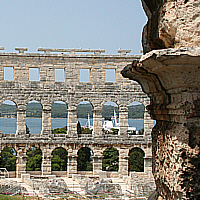 Amphitheater in Pula, Istrien